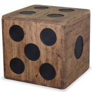 vidaXL Кутия за съхранение, минди дърво, 40x40x40 см, дизайн на зар