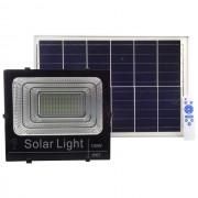 Proiector LED cu panou solar 100W