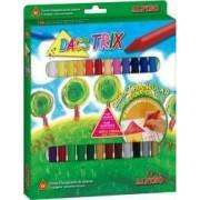 Creioane ALPINO DacsTrix cerate soft triunghilare cutie carton 24 culori-cutie