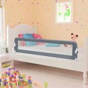 vidaXL Toddler Safety Bed Rail Grey 150x42 cm Polyester