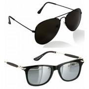 Ivonne Combo Of Uv Protected Black Silver Mercury Sunglasses For Men Women Boys Girls