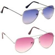 Magjons Aviator Sunglasses(Pink, Blue)