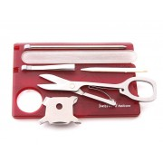 Victorinox Мультитул Victorinox SwissCard Nailcare 0.7240.T Translucent Red