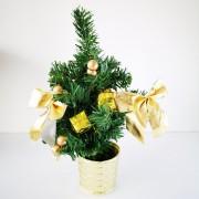 Mini karácsonyfa dekoráció arany 25 cm