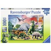 Puzzle Printre dinozauri, 100 piese