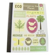 """Staples Eco Friendly Composition Book ~ Friend Of Nature, Plants, Birds (7.5"""" X 9.75""""; 100 Sheets, 200 Pages; Wide Ruled)"""