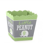 Green Elephant - Party Mini Favor Boxes - Baby Shower or Birthday Party Treat Candy Boxes - Set of 12