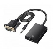 Male VGA to HDMI Cable 20cm Length Micro-USB Powered