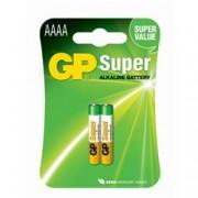 Gp Batteries Blister 2 Batterie AAAA Mini Stilo GP Super