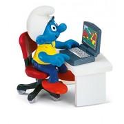Schleich Smurf with Laptop Toy Figure
