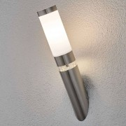 Lampenwelt.com Applique d'extérieur Binka en acier inoxydable - LAMPENWELT.com