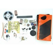 Create and Sound AM high Sensitivity 8 Stone Super Radio Receiver kit Single use Orange ZX921