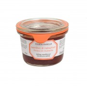 Confiture extra, fraises & rhubarbe, 80 g