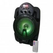 Boxa portabila Lige cu Bluetooth 6.5inch AUX-in Radio FM Cititor USB Card TF Lumini LED DJ Telecomanda Negru