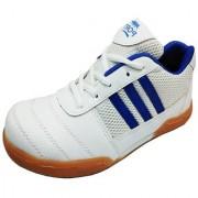 Port Men's White Smash Badminton Shoes