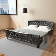vidaXL Двойно легло с матрак от мемори пяна, 180x200 cм, черно