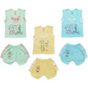 Jo Kidswear Baby Boy's Cotton Clothing Set (Top and Shorts) Multi Color Set of 3 (1008)