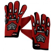 Alpha Man Pro Biker Full Finger Red Cycling Gloves