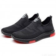 Mens Breathable Slip-On Sneakers Lightweight Casual Soft Woven Walking Shoes