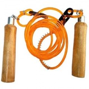 GENERIC Wooden Handle Adjustable Skipping Rope(Color May Vary)