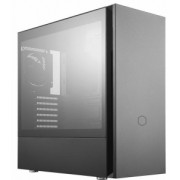 "Carcasa COOLER MASTER Mini-Tower mATX, Silencio S400, material antifonare, tempered glass, 2* 120mm fan (incluse), I/O panel, black ""MCS-S400-KG5N-S00"""