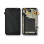 Ecran Tactile + Lcd Noir Avec Châssis De Remplacement Pour Samsung Galaxy Note 1 (Gt-N7000/Gt-I9220)
