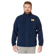 Columbia College Big amp Tall Michigan Wolverines CLG Flankertrade III Fleece Jacket Collegiate Navy