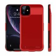 5200mAh Portable Rechargeable Extended Battery Charging Case for iPhone 11 6.1 inch - Red