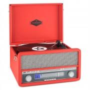Auna Epoque 1907, ретро аудио система, грамофон, касети, bluetooth, USB, CD, AUX (TTS9-Epoque 1907 RD)