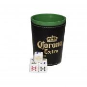 Cubilete Profesional Cerveza Corona. 5 Dados Grabados