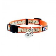 Pawtitas Glow In The Dark Cat Collar, Orange