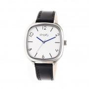 Simplify The 3500 Leather-Band Watch - Silver/Black SIM3501
