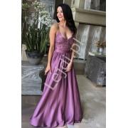 Śliwkowa suknia wieczorowa na studniówkę lub wesele, Bella