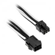 Cablu prelungitor Phanteks 6+2-pini PCIe, 50cm, Black/White, PH-CB8V_BW