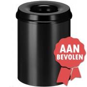 Vepa Bins Vlamdovende Papierbak 15 liter - Zwart