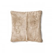 Ralph Lauren Home Brighton Shearling Pillow - Cream - Size: 60 X 60 cm