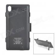 4200mAh cargador de bateria de alimentacion externa con funda protectora para Sony L39h Xperia Z1 - negro