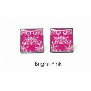 Tyler & Tyler Victorian Wallpaper Clarence Cufflinks Bright Pink