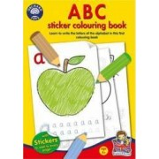 Jucarie educativa Orchard Toys ABC Sticker Colouring Book