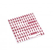 MasterVision Magnetic Letters, 1/2 x 3/4 Inches, Red on White, 120 Count (KT2221)
