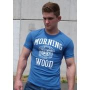 Ajaxx63 Morningwood Athletic Fit Short Sleeved T Shirt Blue AS33