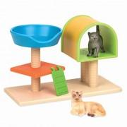Terra by Battat C rbol para gatos Juego de figuras de animales de juguete para gatos para niños de 3 años en adelante (3 piezas)