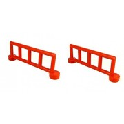 Lego Duplo - 2x red Duplo Fence Railing with 5 Posts