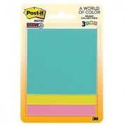 Post-it Super Sticky Notes 3 x 3 Miami Collection 3 Pads per Pack 45 Sheets per Pad (3321-SSMIA)