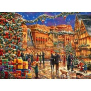 Puzzle Grafika - Chuck Pinson: Christmas at the Town Square, 2.000 piese (64551)