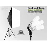 Lampa SOFTBOX światła ciągłego typu QuadHead 50x70cm, 4x85W, 230cm