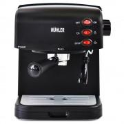 Еспресо машина MUHLER MCM-1585, 850 W, 15 бара, 1.5 литра, Разпенване, Капучино, Черен