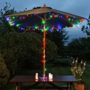 Napelemes LED fényfüzér zöld vezetékes színes – 200