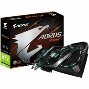 GIGABYTE Video Card NVidia GeForce RTX 2080 Ti AORUS XTREME GDDR6 11GB/352bit, 1770MHz/14140MHz, PCI-E 3.0 x16, 3xHDMI, 3xDP, USB Type-C, WINDFORCE Stack 3X Cooler Double Slot RGB Fusion, Metal Back GV-N208TAORUS_X-11GC
