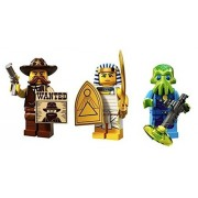 Western Sheriff, Egyptian Warrior, Space Alien Trooper: Lego Collectible Minifigures Series 13 Custo